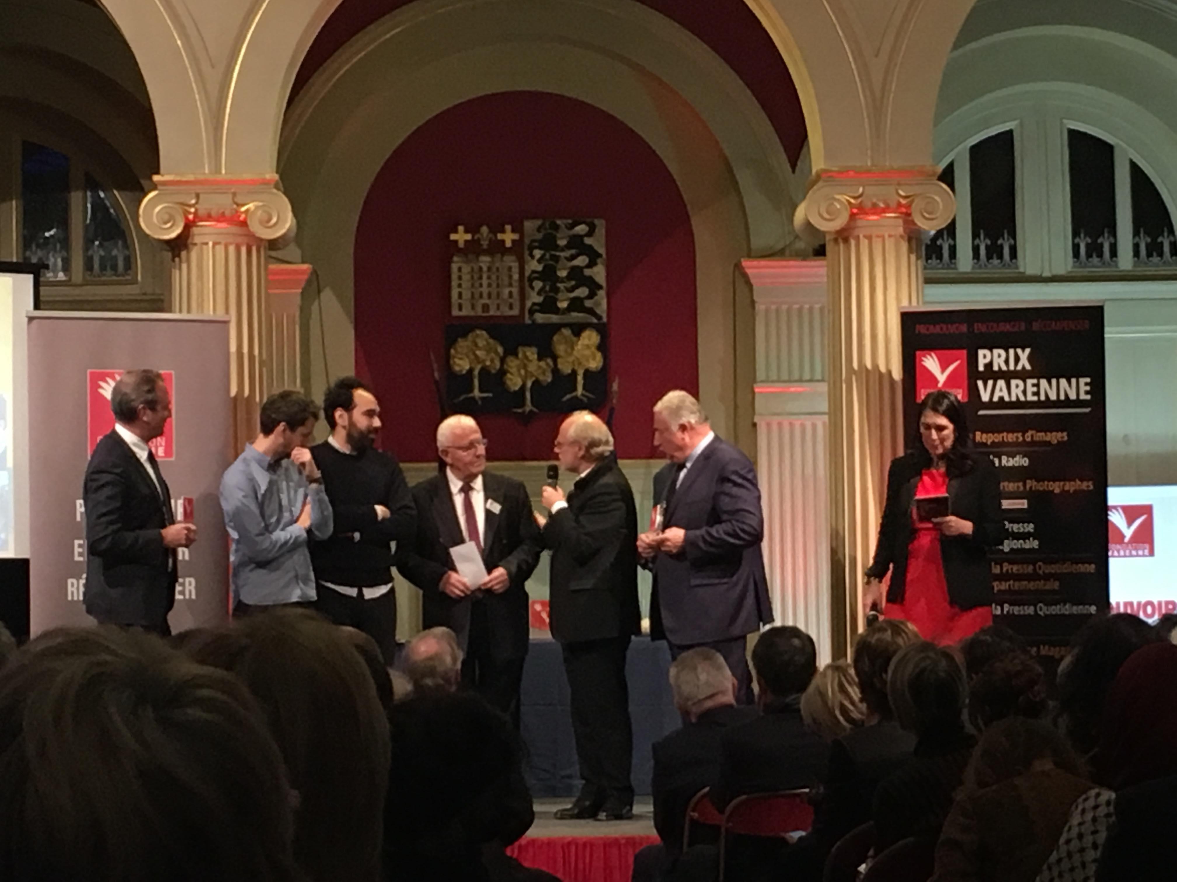 Vincent Coquaz et Ismaël Halissa, Libération, prix Varenne 2018