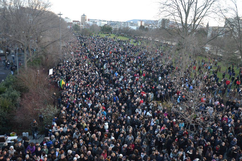 Manif liberté de la presse Clermont-Ferrand 2015